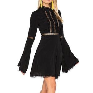 For Love & Lemons Black Willow Dress Small